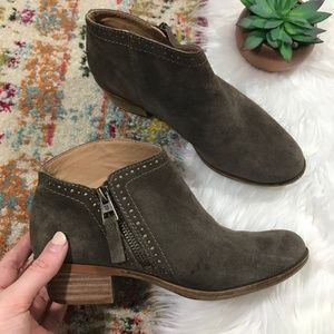 Lucky Brand • Leather Side Zip Ankle Booties